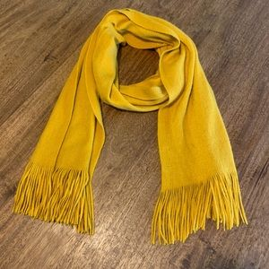 Merona Yellow Fringed Knit Scarf